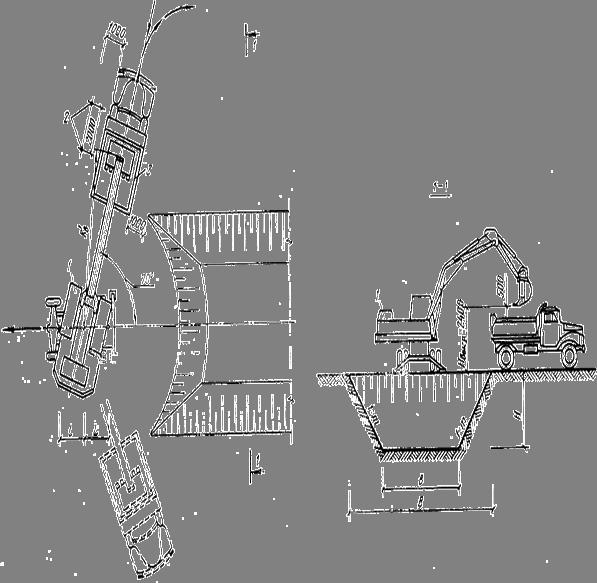 Схема разработки грунта в