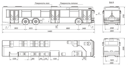 Схема городского автобуса
